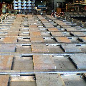 Wear liners steelbelt P=600 mm